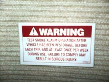 "RV Decal Warning Test Smoke Alarm  #505 1 3/4"" X 3 1/4"""