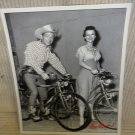 "Vintage Roy Rogers And Dale Evans On Schwinn Bicycles 8"" X 10"" Photo"