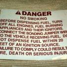 """RV Decal Danger No Smoking  #515 6 1/2"""" X 8 3/4"""""""