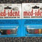 """Med-Ident Medical Identification Tag  8"""" Bracelet  Contact Lenses Or Drug Allerg"""