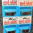 "Med-Ident Medical Identification Tag  8"" Bracelet  Epilepsy,Heart,Tetanus Or See"