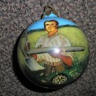 "Roman Inc W. H. Hinton's Blacksmith John Deere Glass 3 1/2"" Ornament 7th Series"