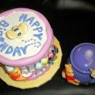 FDT / Disney Winnie The Pooh Happy Birthday Pedstal Cookie Jar & Honey Pot #6292
