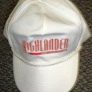 Highlander Baseball Cap White With Red Vinyl Letters OSFM