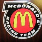 """Mc Donald's Racing Team  Decal 6 1/4"""" Wide X 6"""" Long"""