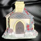 Enesco Foxton Folk Church Candleholder With Votive Candle 1995 #712203