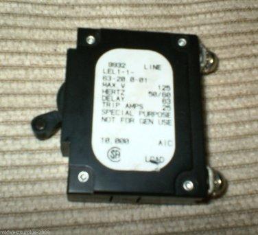AIRPAX LEL 1-1-63-20.0-01  20 Amp Breaker