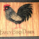 """Welcome Matt - Early Bird Diner  Multi Colored  Rectangle  27"""" W X 18"""" L"""