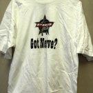 "Cadre Athletic Professional Bull Riding ""Got Nerve? "" White T-Shirt Size: Large"