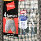 Hanes Men's Value Pack 4 Boxers - Comfort Flex Waistband Size Small / 28-30