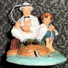 """The Saturday Evening Post Norman Rockwell Collection """"Fishing"""" Figurine #NRR602"""