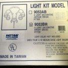 Patton 4 Light Decorative Bright Brass Ceiling Fan Light Kit #9053BR