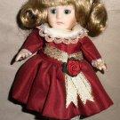 Marie Osmond Fine Porcelain Christmas Greeting Card Doll By Knickerbocker 1994
