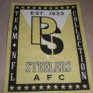 "Pittsburg Steelers Fabric Iron On Decal  Size: 5 7/8"" W X 7 3/4"" L"