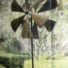 """M.S Imports 84"""" Metal Fan Windmill Garden Stake #HHF001245"""