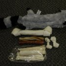 Pet Brand Inc / AKC Critter Dog Gift Bag / Tug Toy With Rawhide Treats
