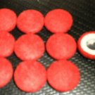 Troyer Products Button / Trim Screw Caps - Red  Package 15