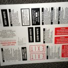 RV Information Decals Sheet Of 20 #TL5002