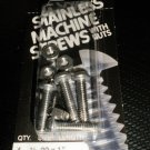 "Bear Kat Products Stainless Machine Screws With Nuts #1/4-20 X 1"" Qty. 4 #97518-"