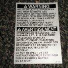 RV Information Decal Warning All Pilot Lights,Appliances,Igniters #LD102WAPLA&I