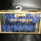 Better Homes Plastics Corp Navy Flower Deluxe Shower Hooks Set 12 #0447120