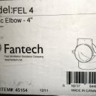 "Fantech FEL4   4"" Plastic Elbow For Ventilation Duct #45154"