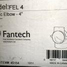 """Fantech FEL4   4"""" Plastic Elbow For Ventilation Duct #45154"""