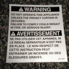 RV Information Decal Warning Do Not Operate This Appliance Unless #LD102WDNOTAU