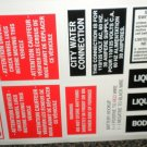 RV Information Decals Sheet Of 20 #TL5003