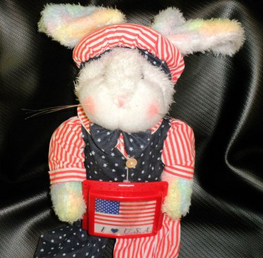 Action Novelty Corp. Musical Patriotic Plush Bunny #ES3024