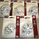GE White Nail In Coax Cable Clips 5 - 20 Packs #73502X5