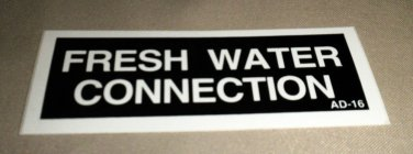 RV Information Decal Fresh Water Connection #AD-16