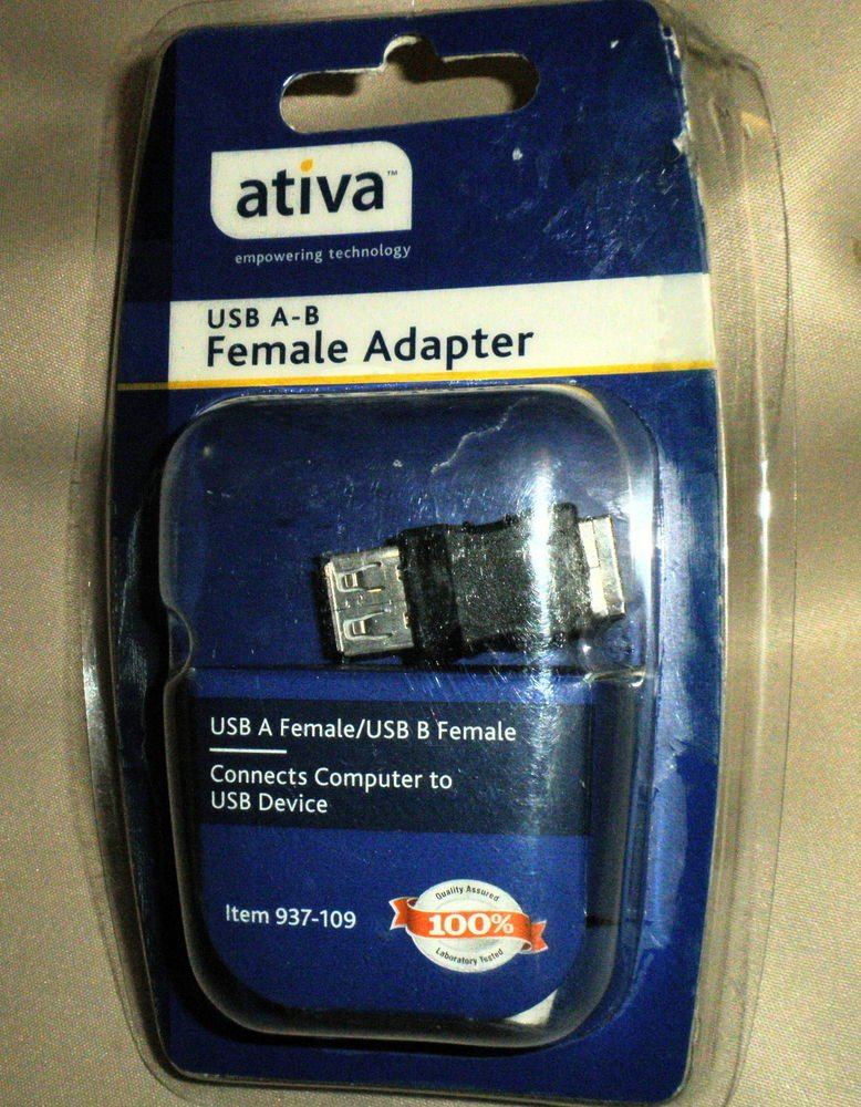 Ativa USB A-B Female Adapter #937-109