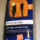 Ativa Mini B USB Cable USB A Plug / 4 Pin Mini B Plug 10'  #212-664