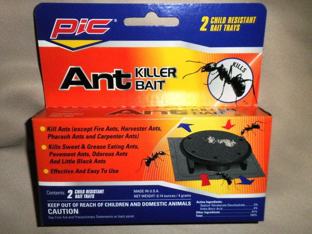 PIC Ant Killer Bait 2 Child Resisant Bait Trays  # AT-2 072477