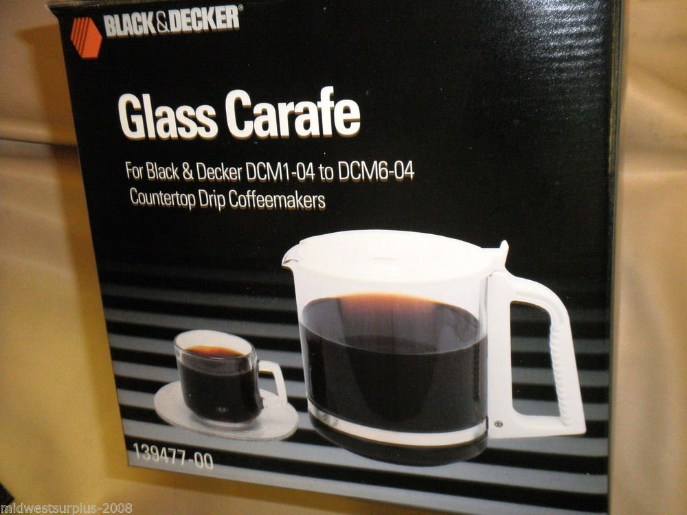 Black & Decker Replacement Glass Carafe For Black & Decker DCM1-04 To DCM60-04