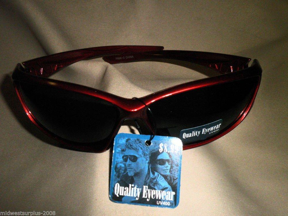 Quality Eyewear UV400 Sunglasses P899-2 Burgundy