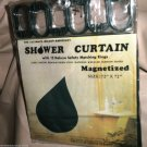 """C.H.F Green 72"""" X 72""""  Vinyl Shower Curtain With 12 Deluxe Matching Rings"""