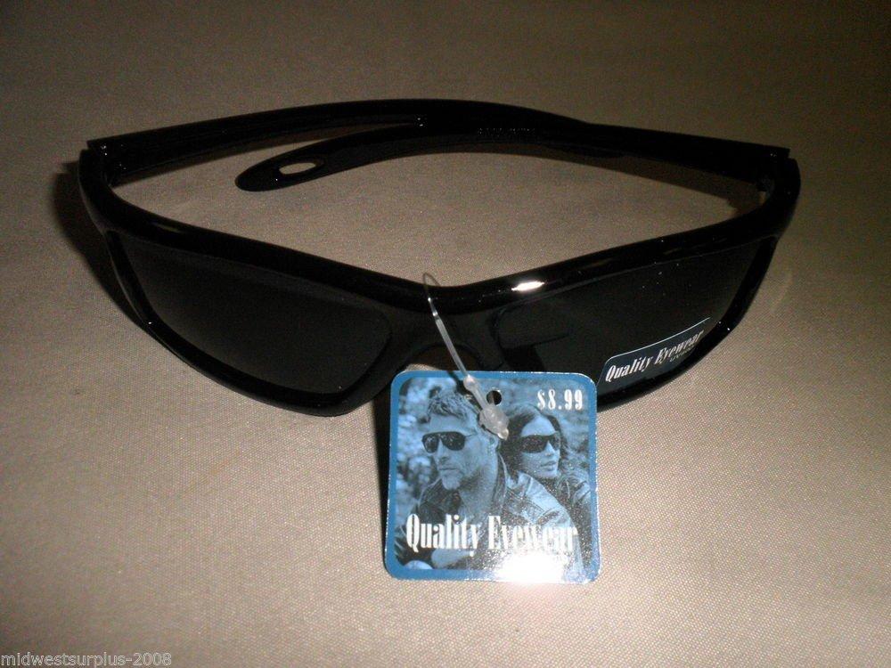 Quality Eyewear UV400 Sunglasses SG38 Black Glossy
