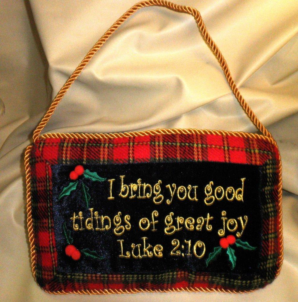 "JDY Inc / Chesapeake Bay Scripture 10"" X 6"" Mini Pillow With Cord Luke 2:10"