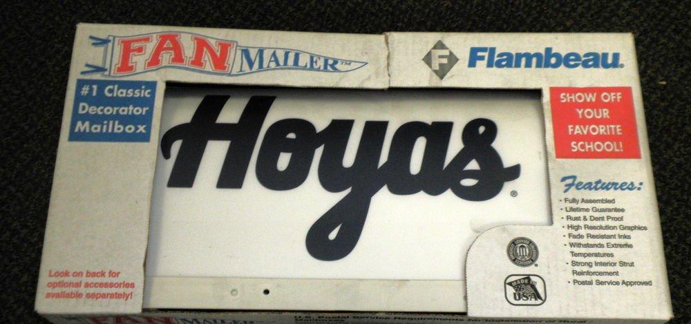 Flambeau Fan Mailer Decorator Rural Mailbox - Georgetown Hoyas #TRD-GTN