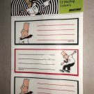 Kittrich Corp. Dilbert Mailing Labels 15 Per Pack / 6 Packs = 90 Labels #SN5222