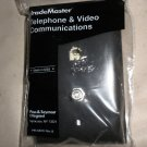 TradeMaster TPTELTV Wall Plate 1 Coax Connector 1 Phone Gang Brown