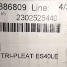 "Tri-Dim Tri Pleat ES40LE 25"" X 25"" X 4"" Air Filter 6 Piece Case #2302525440"