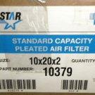 "Aerostar Standard Capacity Pleated 10"" X 20"" X 2"" Air Filter 12 Piece  #10379"