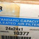 "Aerostar Standard Capacity 24"" X 24"" X 1"" Air Filter 12 Piece Case  #10377"
