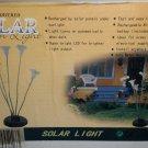 Sun Powered Solar Lily / Butterfly Garden Light #875518002163