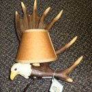 "W.M.G Nature's ""Eagle"" Wall Lamp With Mini Lamp Shade #31055"