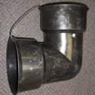 "A/H 6"" Black PVC 90 Degree Elbow  With 2 Gaskets #0699G"