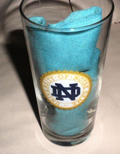 Notre Dame Fightin' Irish Tall 2 Side Logo Clear Glass Tumbler